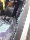 Автомобиль разбил в аварию Стоковое Изображение RF