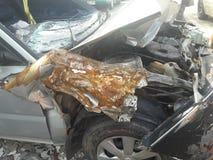 Автомобиль разбил в аварию Стоковое Фото