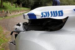автомобиль разбил передний тягчайший ярд Стоковое Изображение