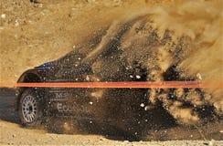 Автомобиль ралли в Португалии стоковое фото
