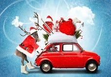 Автомобиль рождества стоковая фотография