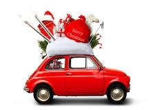 Автомобиль рождества стоковая фотография rf