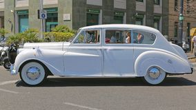 Автомобиль свадьбы Rolls Royce Стоковые Фото