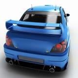 Автомобиль спорт для участвовать в гонке участвует в гонке с элементами графиков Глубокое изучение всех главным образом частей ма Стоковые Изображения RF