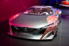 Автомобиль спорт концепции оникса Пежо стоковые изображения rf