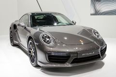Автомобиль спорт Порше 911 Turbo s стоковые изображения rf