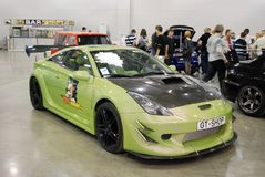 Автомобиль спорт Toyota Celica T23 в экспо крокуса moscow Стоковое Изображение RF