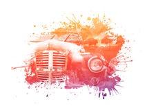 автомобиль старый иллюстрация вектора