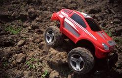 автомобиль с игрушки дороги Стоковое Фото