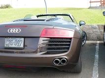 Автомобиль с откидным верхом Audi R8 V8 FSi припарковал в Chorrillos, Лиме Стоковое Фото
