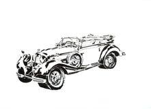 Автомобиль черно-белый стоковое фото