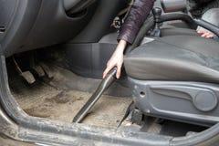 Автомобиль чистки с пылесосом Стоковые Изображения
