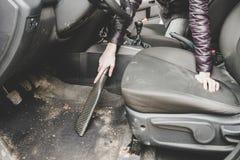 Автомобиль чистки с пылесосом Стоковое Изображение