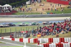 автомобиль barcelona 9 действий может толпиться Порше Стоковое Изображение RF