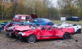 автомобиль cementary стоковое изображение rf