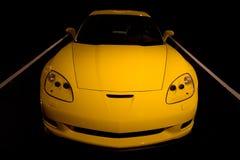 автомобиль corvette резвится желтый цвет Стоковое Изображение RF
