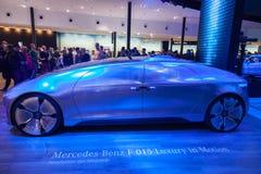Автомобиль f 015 Benz Мерседес роскошный электрический Стоковое Изображение RF