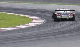 автомобиль gt участвуя в гонке задние съемки Стоковое Изображение RF