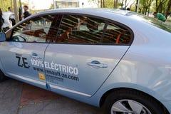 Автомобиль Renault Fluence ZE электрический стоковое фото