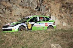 Автомобиль Subaru на Sibiu - выставке ралли Санта Стоковые Фотографии RF