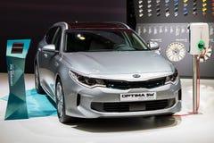 Автомобиль SW оптимальных Kia вставляемый гибридный Стоковая Фотография RF