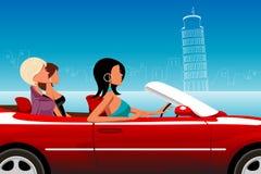 автомобиля управлять модная повелительница иллюстрация штока