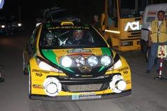 Автомобилей ралли Пежо 207 супер 2000 Стоковое Изображение