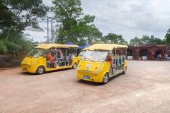 Автомобили батареи в острове Weizhou, Китае Стоковое Изображение