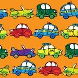 Автомобили вектора безшовные multicolor Стоковые Изображения