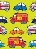 Автомобили вектора безшовные multicolor Стоковое Изображение