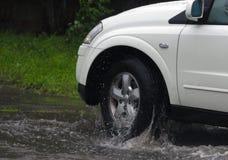 Автомобили в проливном дожде Стоковые Изображения RF