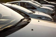 Автомобили в ряд Стоковое фото RF