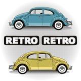 Автомобили концепции ретро Стоковое Изображение RF
