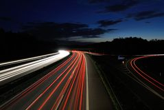 Автомобили на ноче Стоковое фото RF