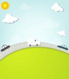 Автомобили на дороге иллюстрация штока