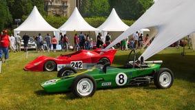 Автомобили спорт гонок, автоматическая гонка, ралли Стоковые Фотографии RF