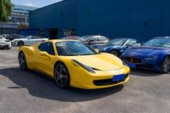 Автомобили Феррари стоковые фотографии rf