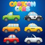 Автомобили шаржа Стоковые Фото