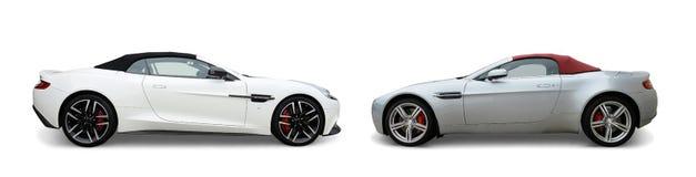 Автомобили Aston Мартина стоковые фотографии rf