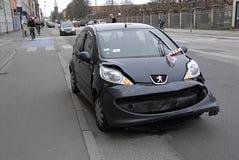 Автомобили DENMARK_stop загерметизированные полицией стоковое фото rf