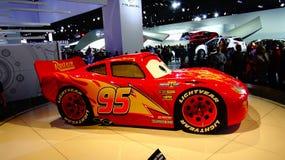 Автомобили 3 McQueen молнии на NAIAS Стоковое фото RF