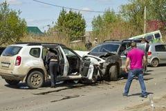 Автомобильная авария стоковые фотографии rf