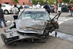 Автомобильная катастрофа в ферзях Нью-Йорке Стоковое Фото