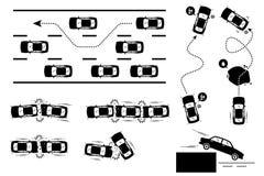 Автомобильная катастрофа и безумный управлять Стоковая Фотография RF