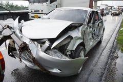 Автомобильная катастрофа, принципиальная схема страхсбора стоковая фотография rf