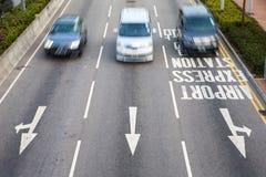 Автомобильное движение - запачканное движение автомобиля Стоковые Фото