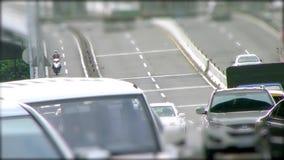 Автомобильное движение на мосте в Тайване, Тайбэе сток-видео