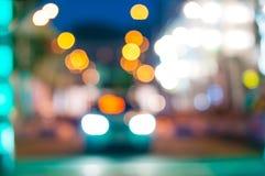 Автомобильное движение на ноче Движение нерезкости Стоковое Изображение RF