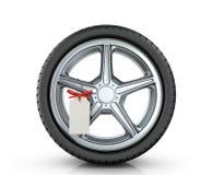 Автомобильное колесо с биркой Стоковое Изображение