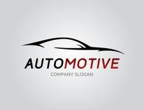 Автомобильный дизайн логотипа автомобиля с концепцией резвится силуэт корабля Стоковое Изображение